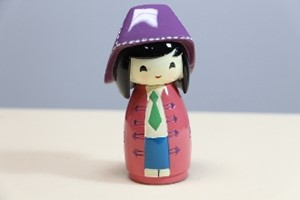 Picture of Decorative Countertop Doll - Girl w. Hat