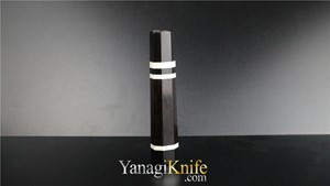 Picture of Ebony Triple White Ring For Wa-Gyuto