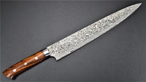 Picture of Takeshi Saji Damascus R2 Ironwood Sujihiki